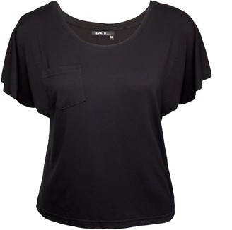 Eva D. Basic T-Shirt 'Amy' With Flared Sleeves In Black