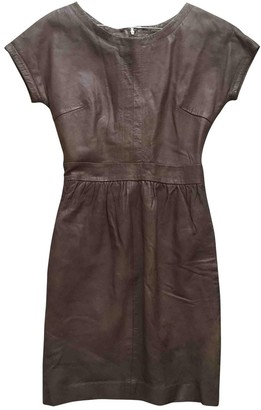 Bruuns Bazaar Brown Leather Dress for Women