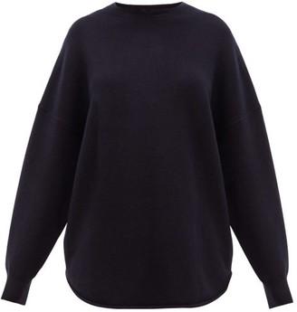 Extreme Cashmere - No.53 Crew Hop Stretch-cashmere Sweater - Womens - Navy
