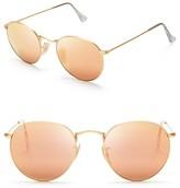 Ray-Ban Round Mirror Sunglasses, 50mm