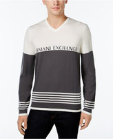 Armani Exchange Men's V-Neck Logo Sweater