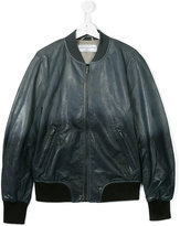 John Galliano teen leather bomber jacket - kids - Sheep Skin/Shearling/Polyester/Cotton - 14 yrs