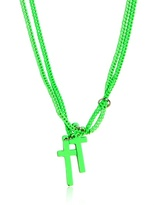 DSquared Double Cross Varnished Brass Necklace