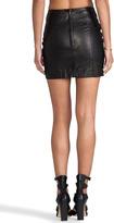 Capulet Leather Mini Skirt