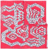 Bernhard Willhelm intarsia knit scarf