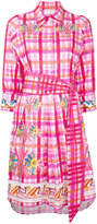 Peter Pilotto painted check shirt dress - women - Cotton - 8