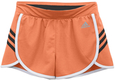 adidas Sun Glow & Black Ultimate 3-Stripe Knit Shorts - Tween