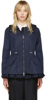 Moncler Navy Lotus Hooded Jacket