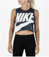 Nike Women's Sportswear Essential Crop Tank, Blue