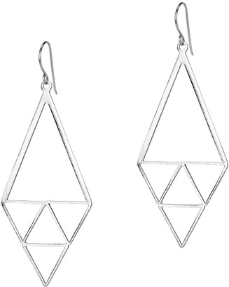 Amorcito Inner Triangle Earrings Platinum