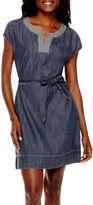 Liz Claiborne Short-Sleeve Caftan Dress - Tall