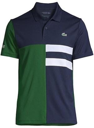 Lacoste Asymmetrical Colorblock Ultra Dry Polo Shirt