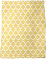 uneekee Unique Ikat Yellow Blanket: