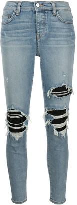 Amiri High Rise Skinny Fit Distressed Jeans