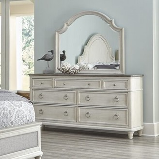 Panama Jack Home Sonomoa 7 Drawer Double Dresser with Mirror
