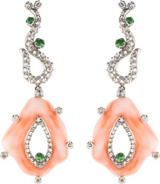 Arunashi Coral Earrings