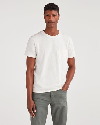 7 For All Mankind Boxer Pocket Tee in White