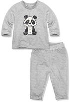 Gray Baby Panda Long-Sleeve Tee & Sweatpants - Infant & Toddler