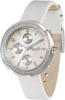 Kenneth Cole New York Kenneth Cole Women's New York Sport KC2538 White Leather Quartz Watch with Dial
