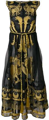 Yuliya Magdych Dayspring Horse embroidered dress