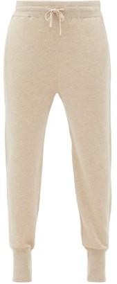 Jil Sander Ribbed-cuff Cashmere-blend Track Pants - Womens - Beige