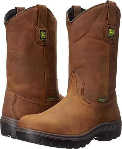 "John Deere JD4604 11"" Waterproof Pull On Steel Toe Boot"
