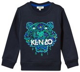 Kenzo Navy Jungle Print Tiger Sweatshirt