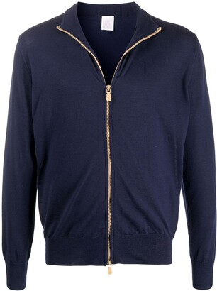 Eleventy Zipped Fitted Cardigan