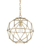 The Well Appointed House Geometric Dome Chandelier in Antique Brass - ON BACKORDER
