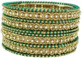 Banithani Goldtone Silk Thread Wrapped Bangles Fashion Jewelry Gift For Her 2*6