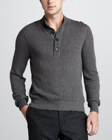 Billy Reid Ribbed Henley