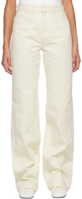 Lemaire Off-White Garment-Dyed Jeans