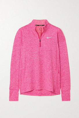 Nike Element Melange Recycled Stretch-jersey Top - Pink