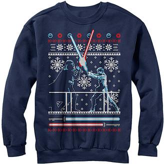 Fifth Sun Men's Sweatshirts and Hoodies CHAR - Star Wars Charcoal Heather Feud Christmas Sweater - Men
