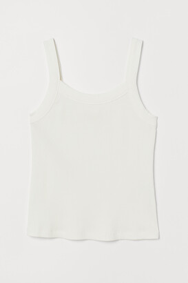 H&M Ribbed Cotton Tank Top