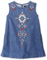 Lucky Brand Toddler Girls) Embroidered Denim Dress