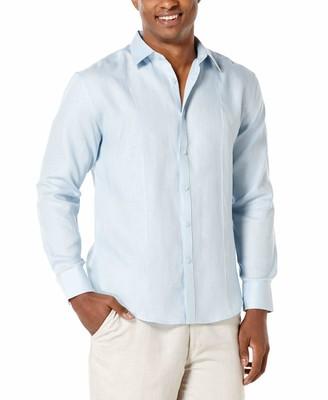 Cubavera Big & Tall Solid Linen Sport Shirt