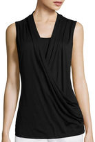 Liz Claiborne Crossover Wrap Tank Top - Tall