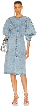 Isabel Marant Udrea Dress in Light Blue | FWRD