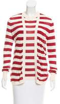 Carolina Herrera Striped Silk Cardigan Set w/ Tags