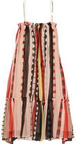 Apiece Apart Dafni Striped Silk Dress - Orange