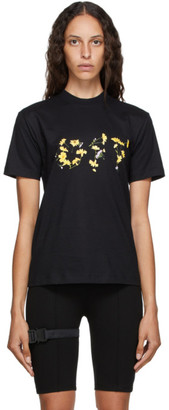 Off-White Black and Yellow Flower T-Shirt