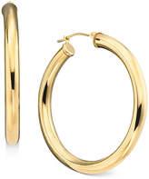 Macy's 14k Gold Large Polished Hoop Earrings