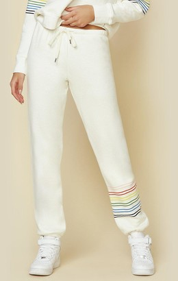 Sundry Rainbow Stripe Sweatpants