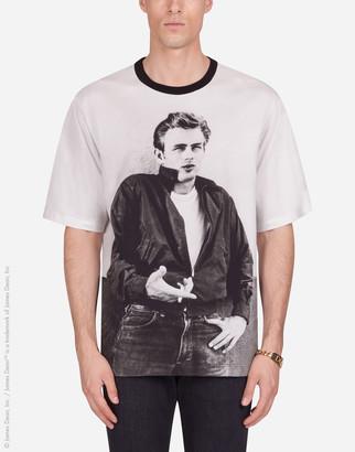 Dolce & Gabbana Cotton T-Shirt With James Dean Print