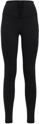 Michi Nero Leggings W/ Lace Inserts