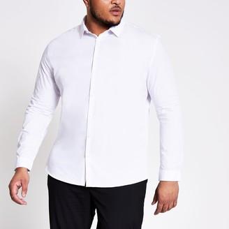 River Island Mens Big and Tall White slim fit shirt