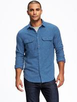 Old Navy Regular-Fit Marled Shirt Jacket for Men