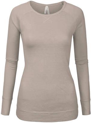 SBS Fashion Fashion Women's Cardigans Oatmeal - Oatmeal Raglan Long-Sleeve Sweater - Women