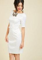 East Concept Fashion Ltd Ritzy Wishes Sheath Dress in White